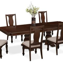 Value City Dining Table And Chairs Mid Century Modern Occasional Vienna 6 Side Merlot