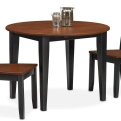 Value City Dining Table And Chairs Folding Tables Set Nantucket Drop Leaf 2 Slat Back Black