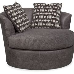 Swivel Chair Value City Grey Tufted Dining Brando Smoke Furniture