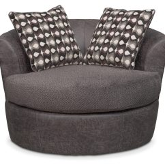 Swivel Chair Value City Cover Rentals For Cheap Brando Smoke Furniture