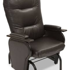 Glider Chairs Toddler Chair And Table Ryker Bonded Leather  Brown The Brick