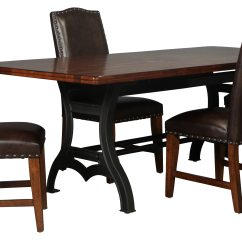 Leather Dining Room Chairs Foam Folding Chair Bed Nora Table And 4 Bonded Side Levin Furniture