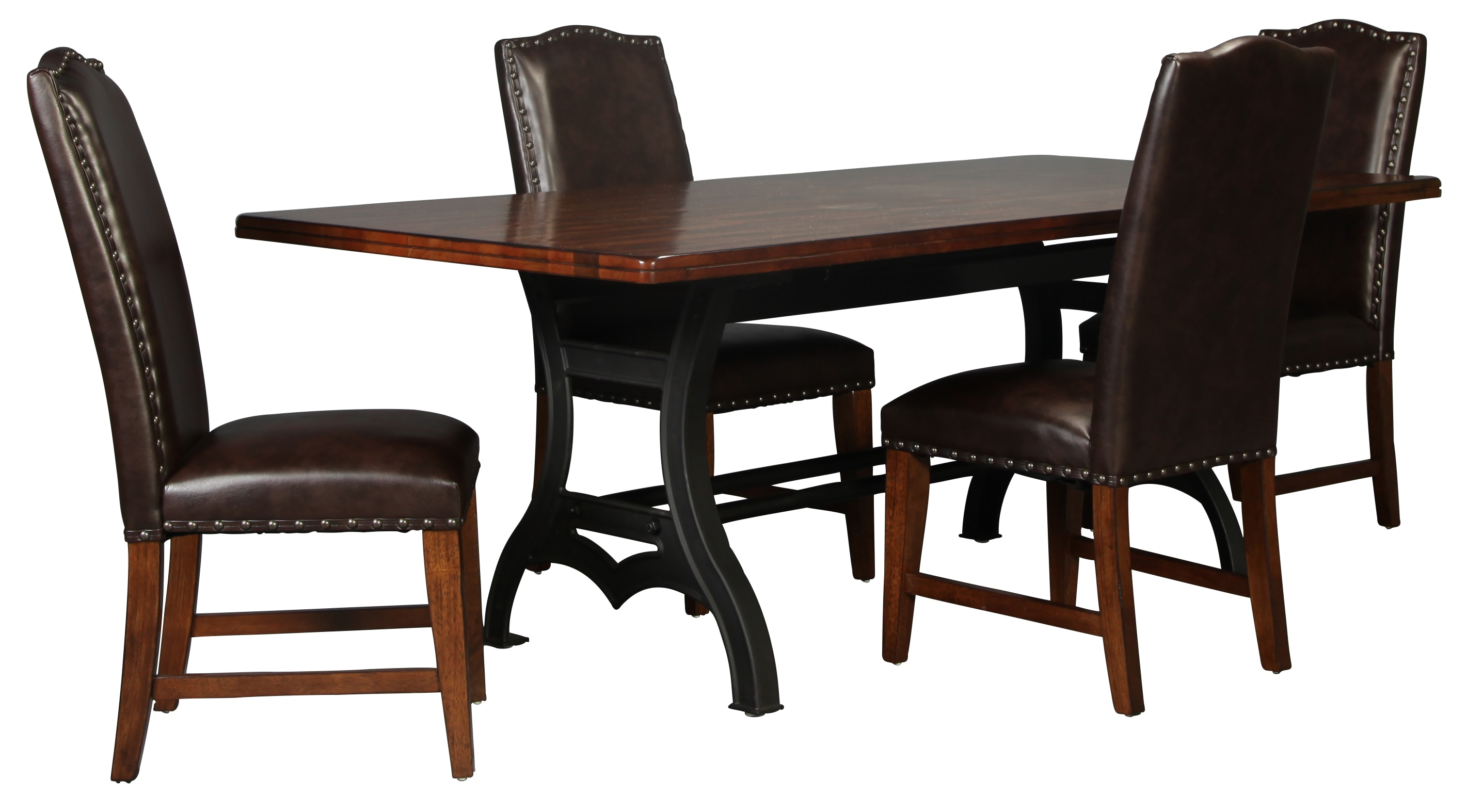 dining room chairs leather office chair description nora table and 4 bonded side levin furniture