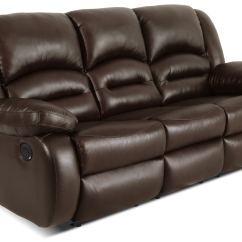 Genuine Leather Power Reclining Sofa Wooden Frame Toreno  Brown The