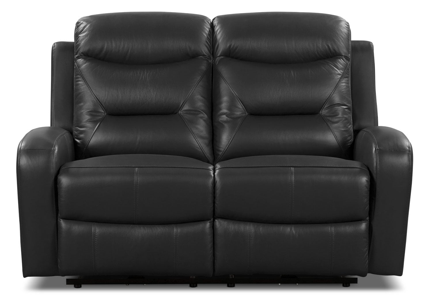genuine leather power reclining sofa clearance sofas uk river loveseat  black