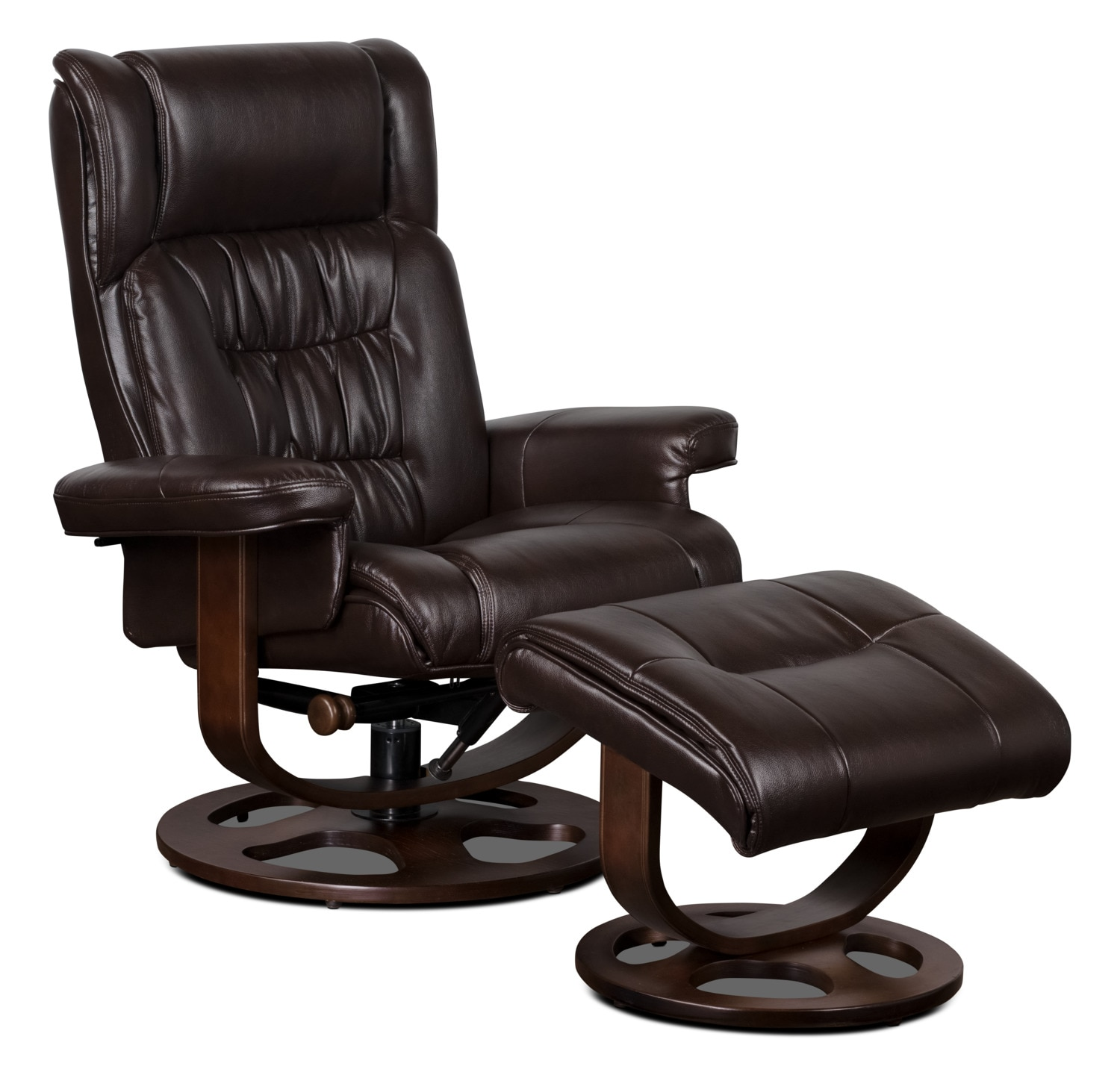 Leather Recliner Chairs Benji Leather Look Fabric Swivel Reclining Chair With