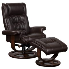 Reclining Chair With Ottoman Leather Shower Back Benji Look Fabric Swivel