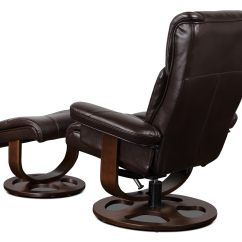 Reclining Chair With Ottoman Leather Best Desk Under 200 Benji Look Fabric Swivel