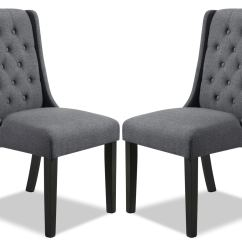 Dining Wingback Chair Director Covers Grey York Set Of 2  The Brick