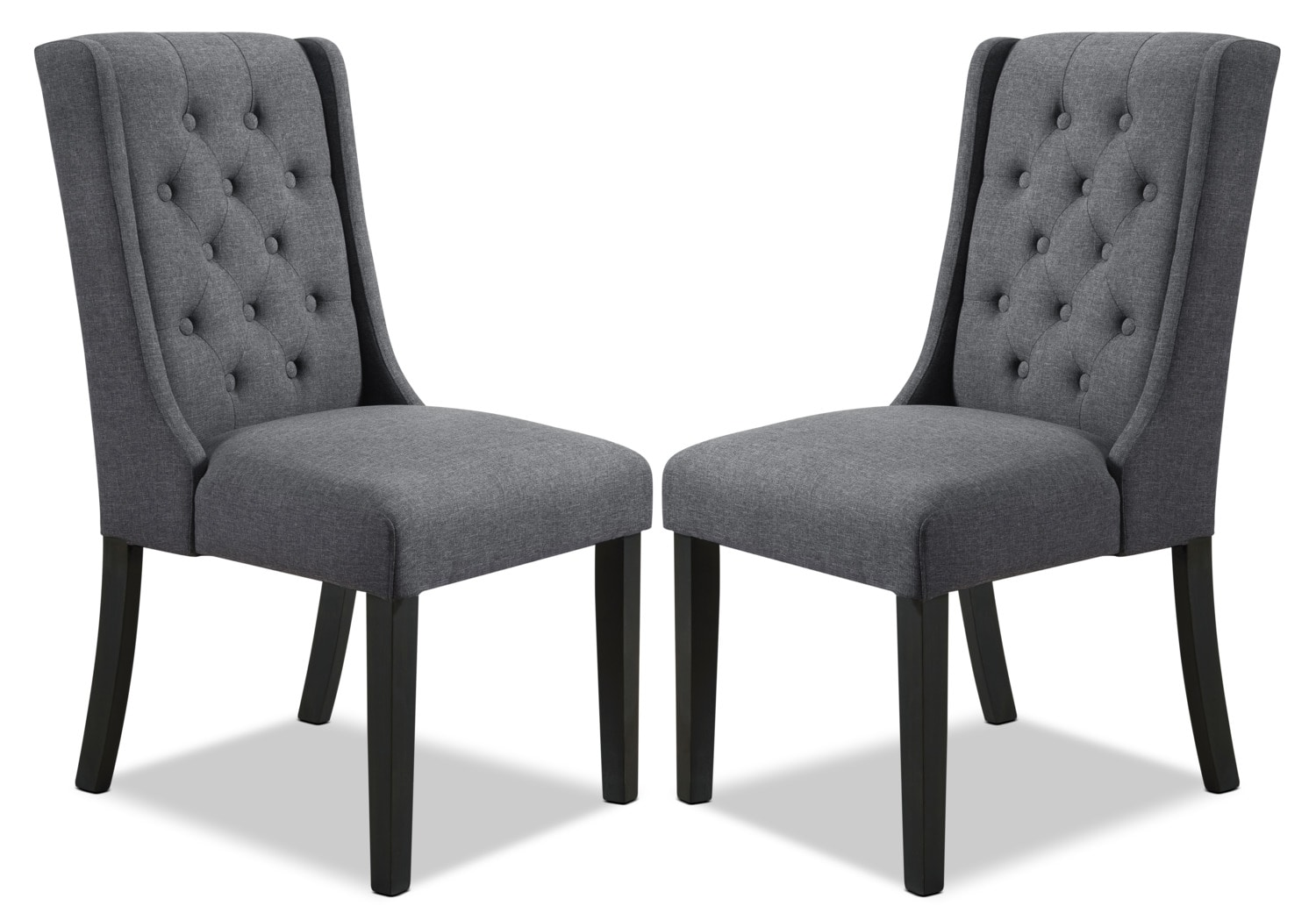 Wingback Dining Chairs York Wingback Dining Chair Set Of 2 Grey The Brick