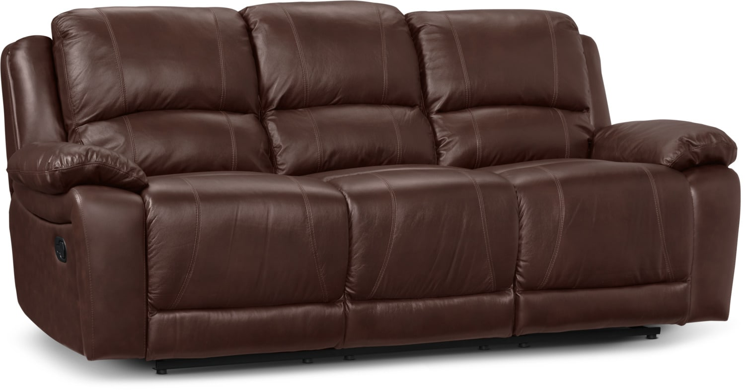 the brick cindy crawford reclining sofa best manufacturers in pune marco genuine leather chocolate