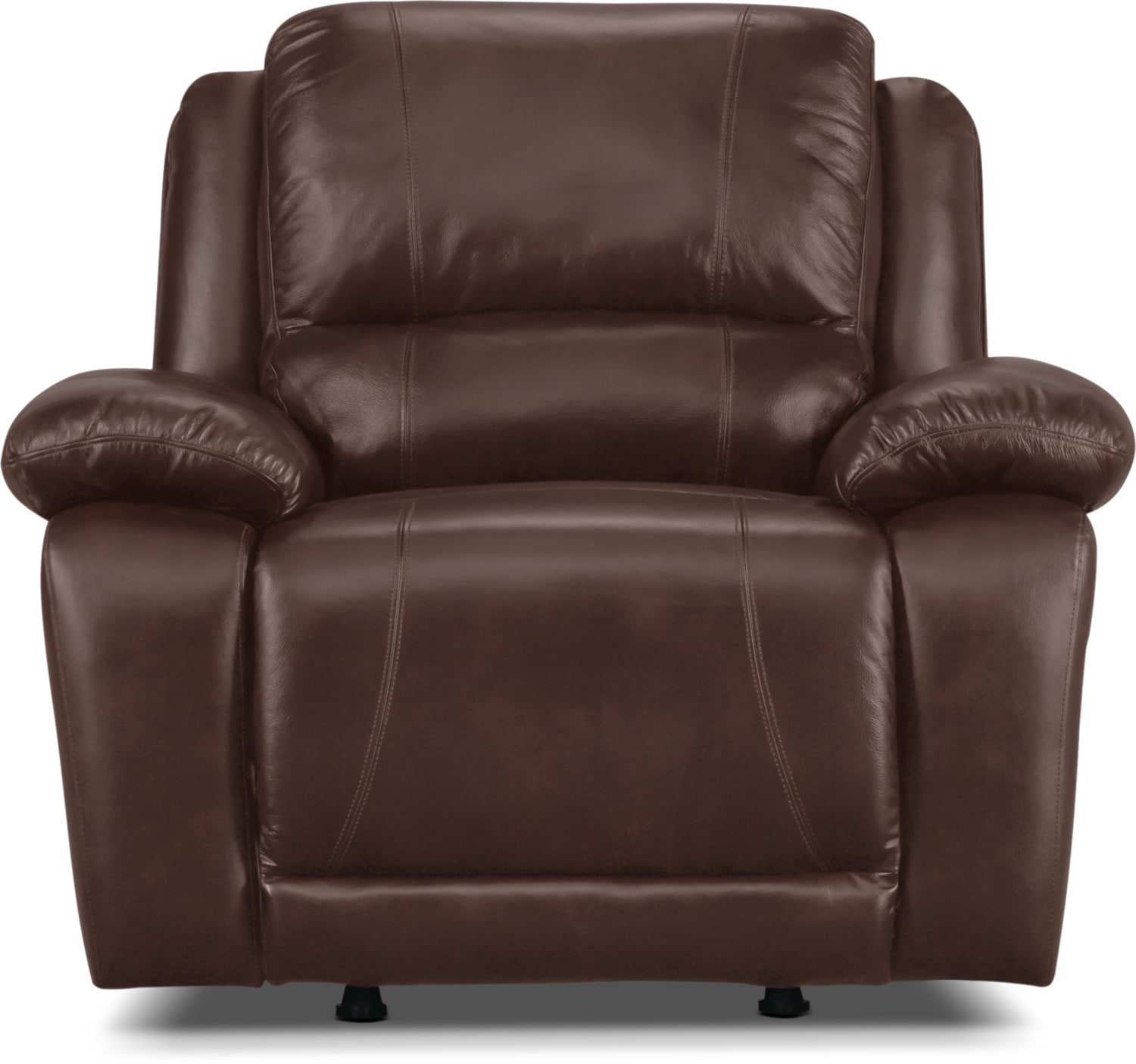 Real Leather Recliner Chairs Marco Genuine Leather Rocker Reclining Chair Chocolate