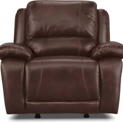 Genuine Leather Chair Office Upper Back Support Marco Rocker Reclining Chocolate