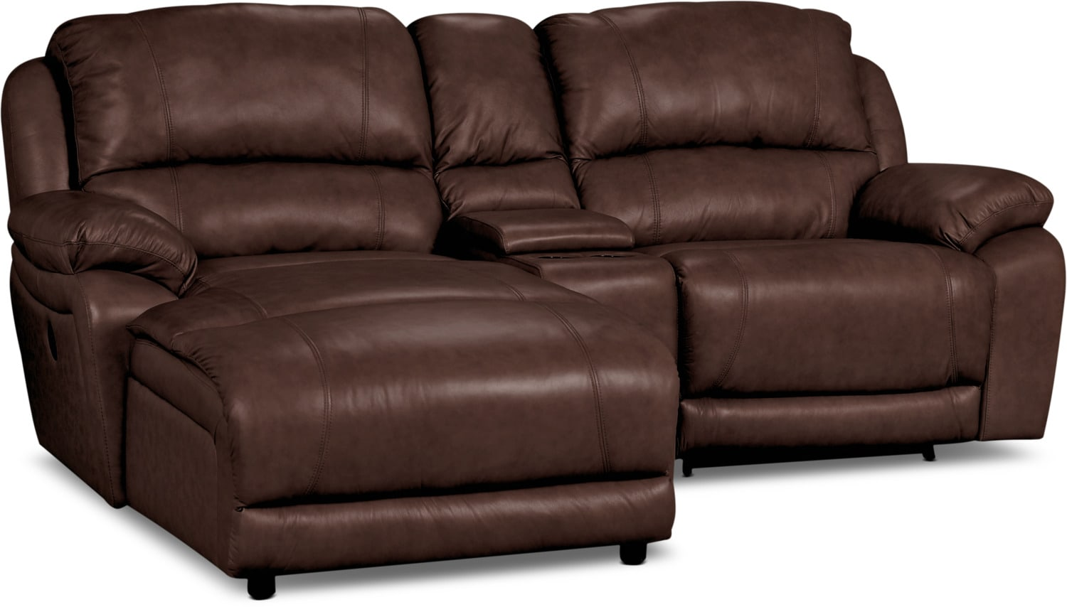 3 piece leather sectional sofa with chaise library marco genuine power