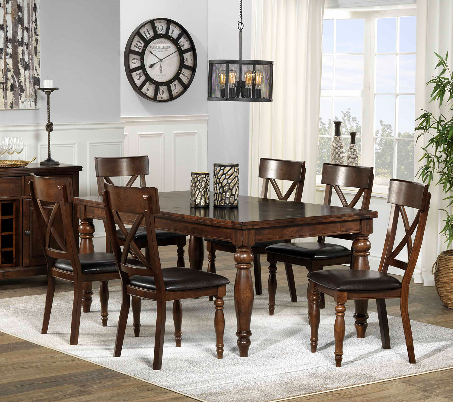 Kingstown 7Piece Dining Room Set  Chocolate  Leons