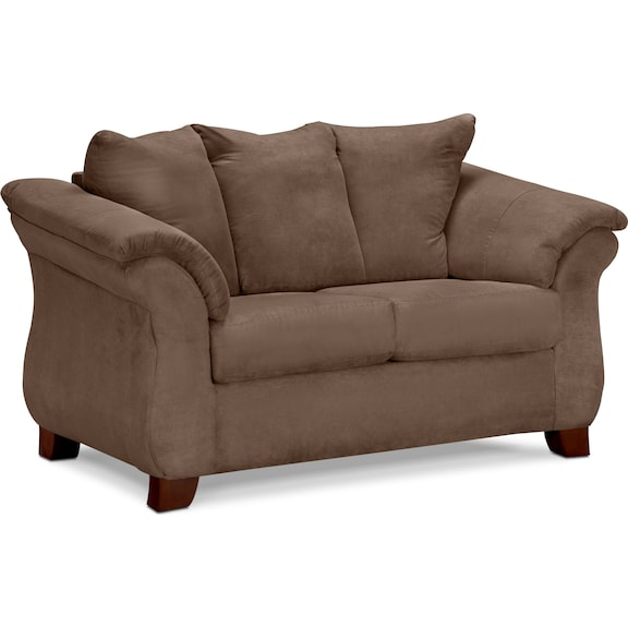 Living Room Furniture  Adrian Taupe Loveseat
