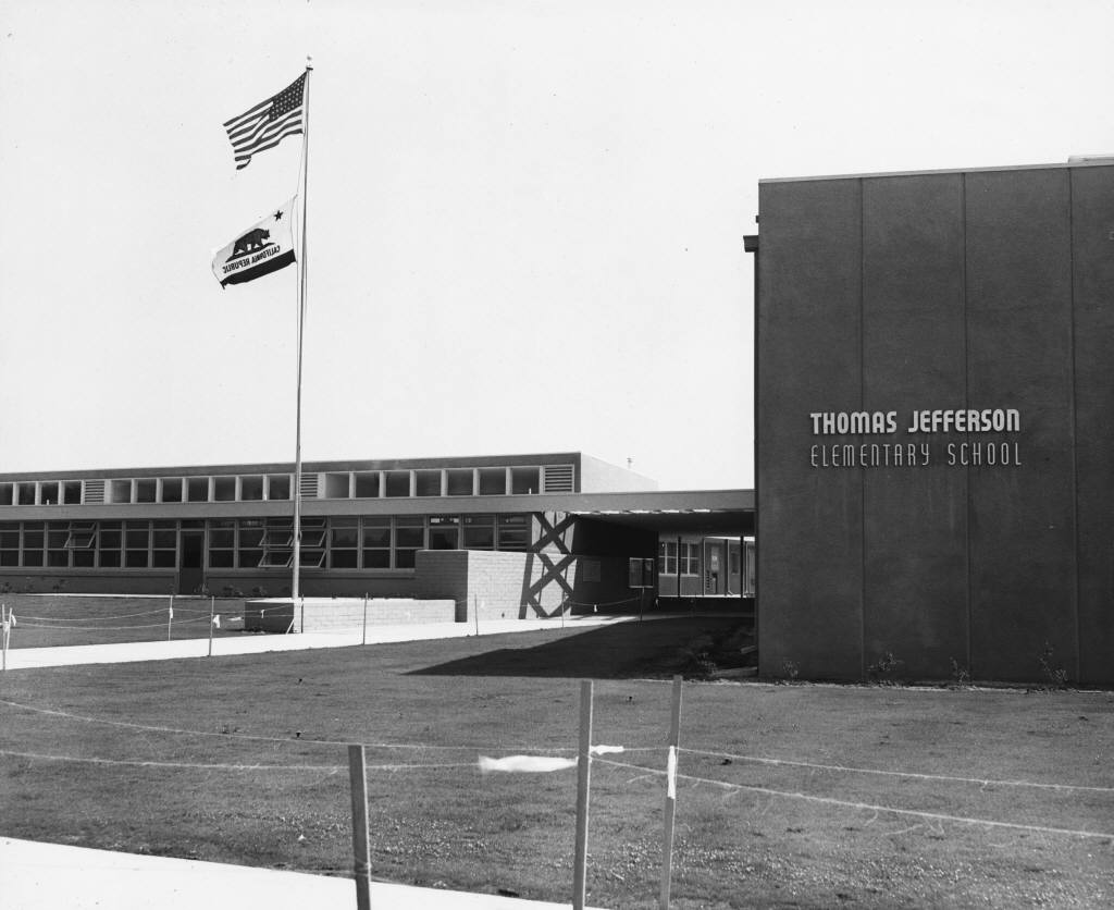 Thomas Jefferson Elementary School, Anaheim, California, circa 1940