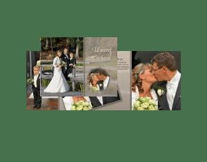 Hochzeit Fotobcher  Kundenbeispiele  Gestaltungsideen