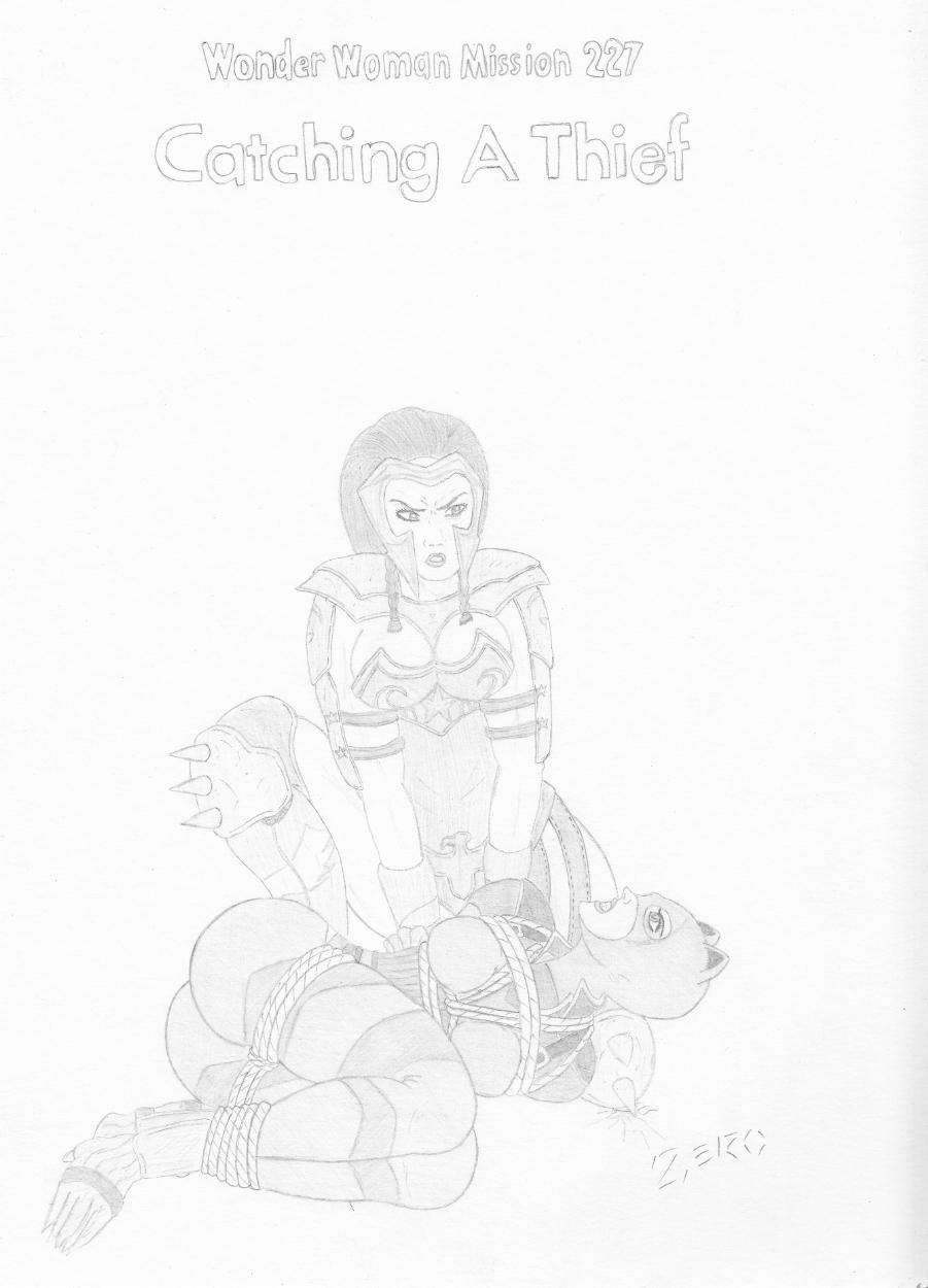 Wonder Woman vs Catwoman (bondage), in Paul Walkowiak's