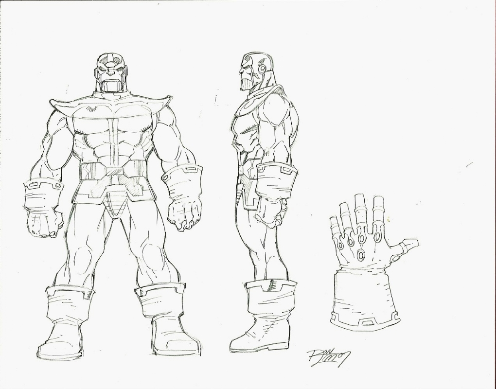 FOR SALE: Ron Lim THANOS & Infinity Gauntlet style guide