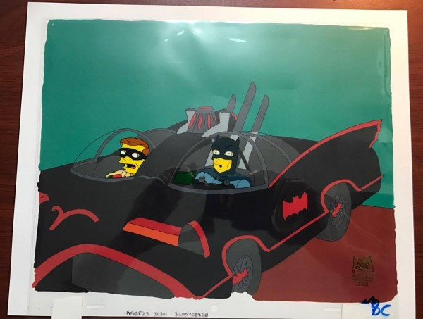 1966 Batman Adam West & Robin Burt Ward In Batmobile Simpsons Episode Aabf23 1999 S11e01