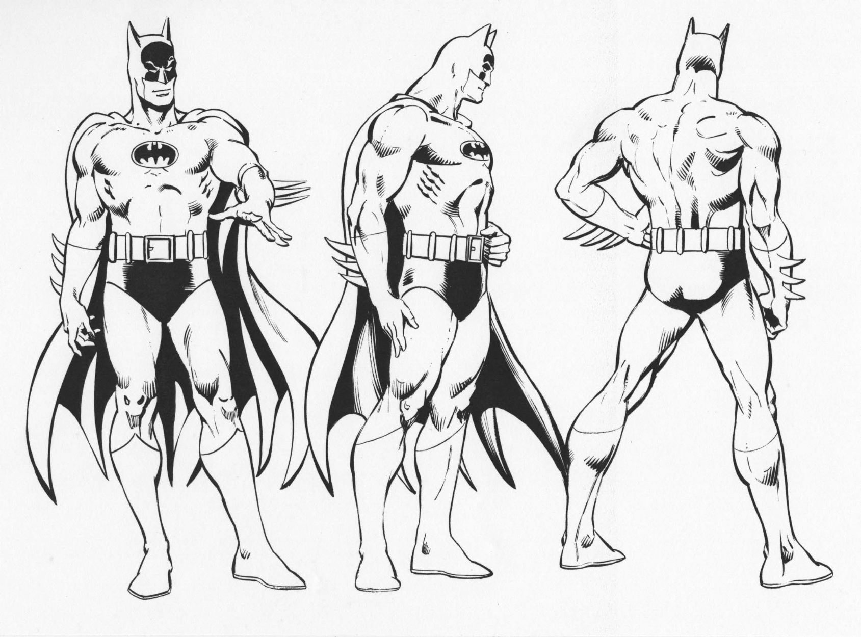 BATMAN style guide, in GERRY ACERNO's INKING over other