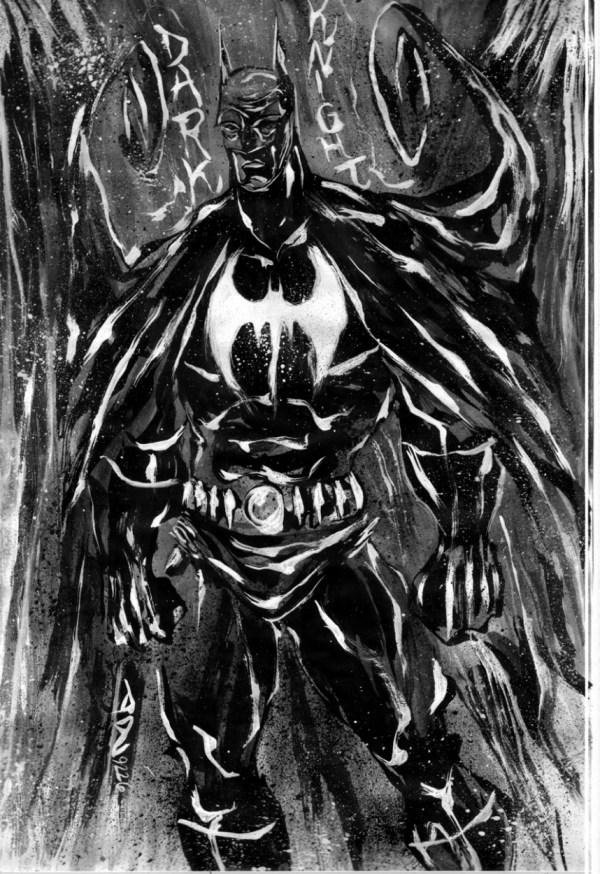 Batman Dark Knight 1 In David Quiles' Ink Sketches Comic