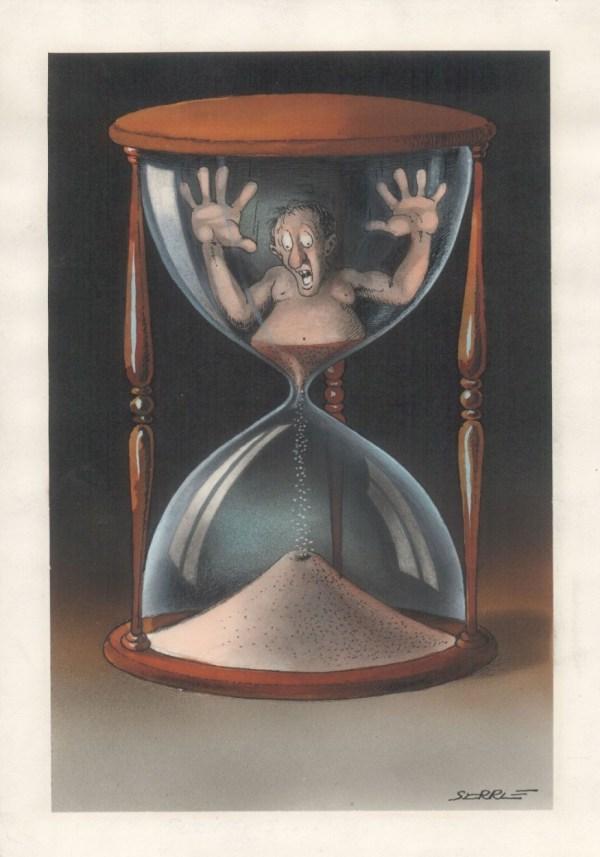 Broken Hourglass Art