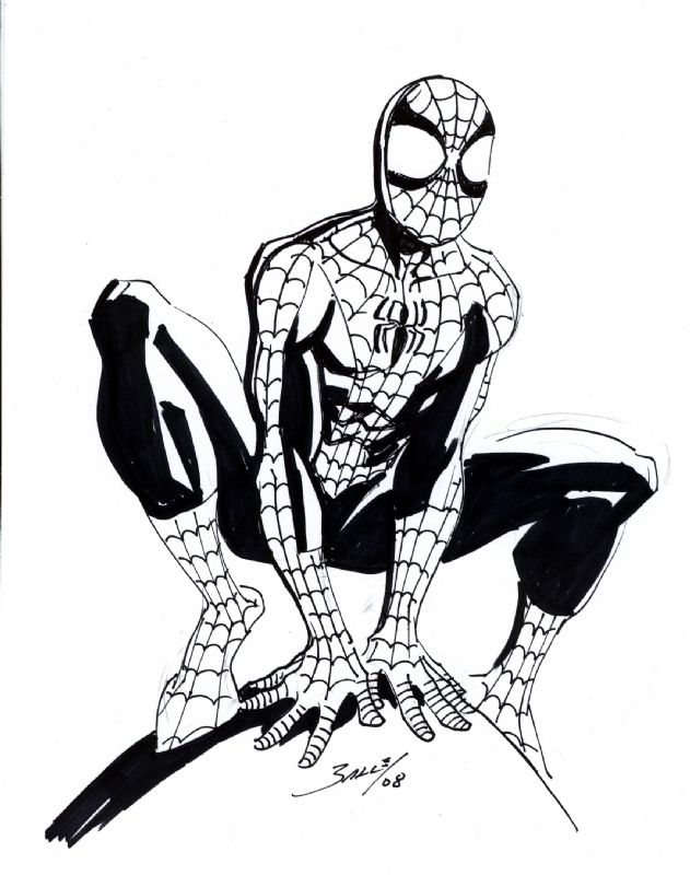 Ultimate Spider-Man (Mark Bagley), in JML Commissions's