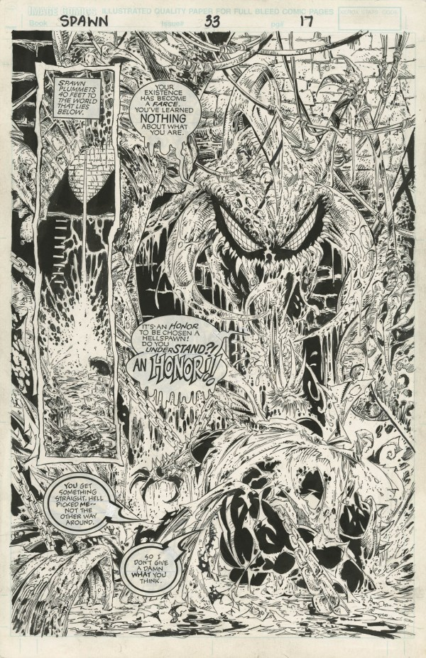 Todd McFarlane Comic Book Page