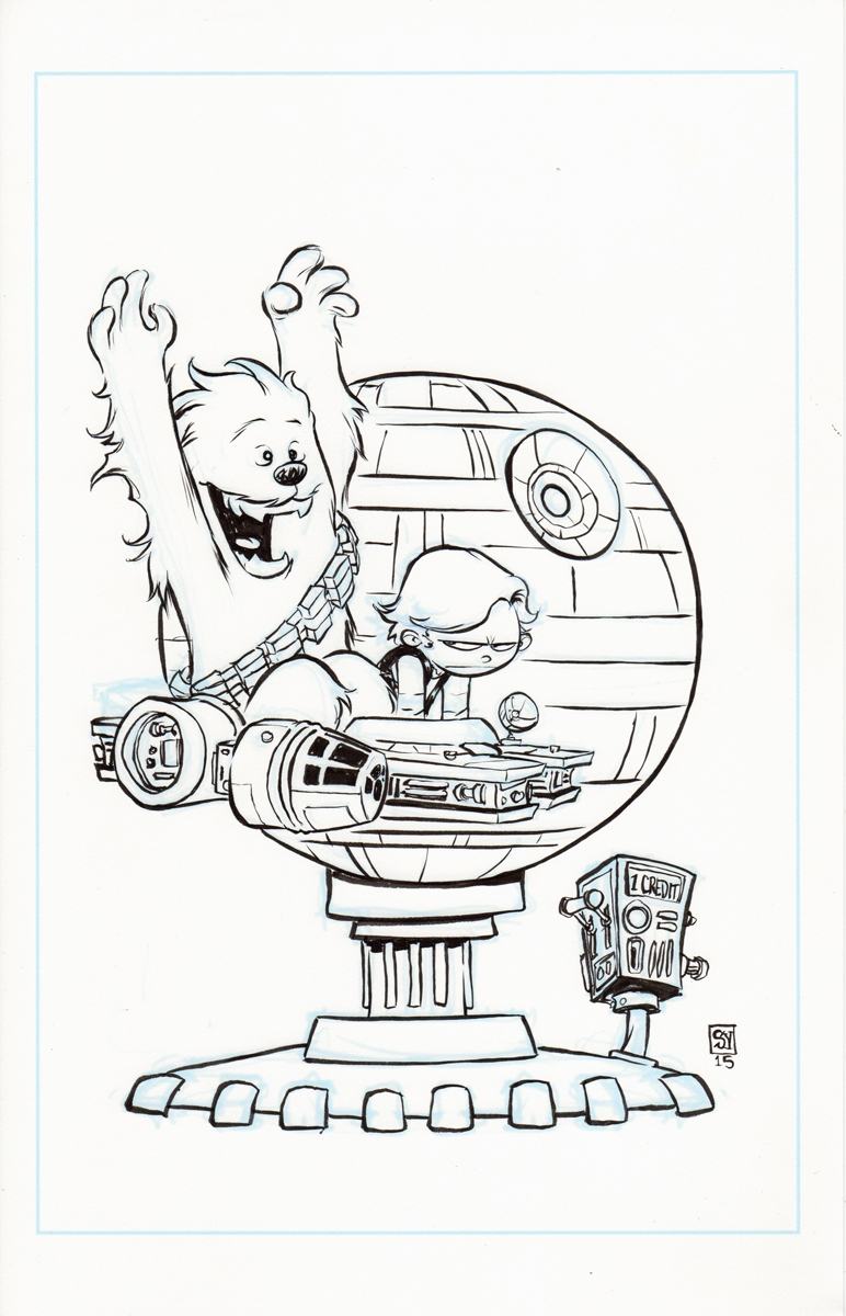 Star Wars, Chewbacca #1 Calvin & Hobbes Han Solo Cover