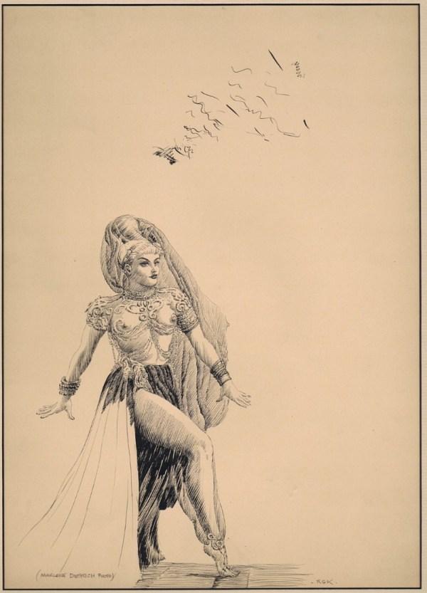 Marlene Dietrich Illustration Roy Krenkel Rgk In Jeff