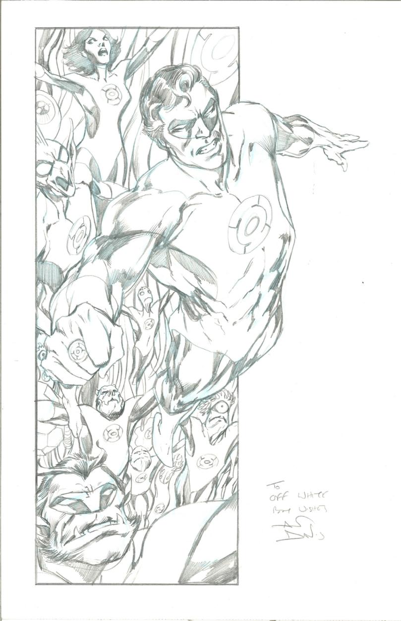 Hal Jordan and The Green Lantern Corp by Alan Davis, in