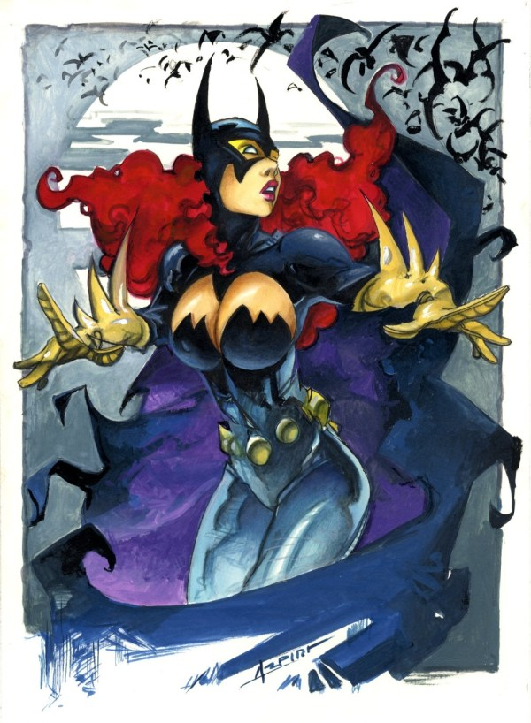 Batgirl Alfonso Azpiri In Ed Lloyd Gragg' Fantasy Art Comic Room