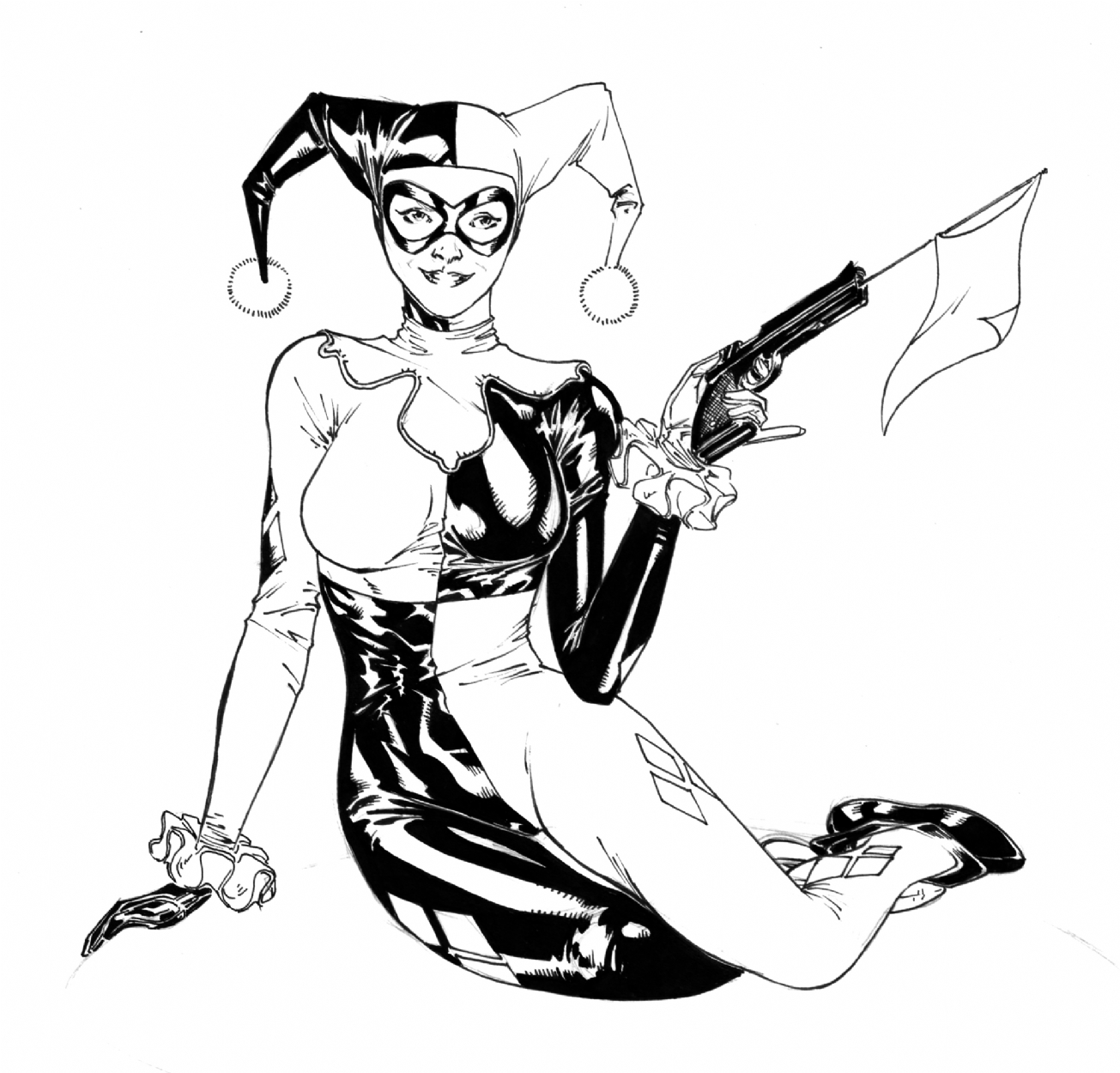 Harley Quinn, in Spider Guile's Commissions and other