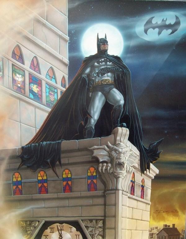 Batman Painting Fantasy Painter Ed Beard Jr. In Brian