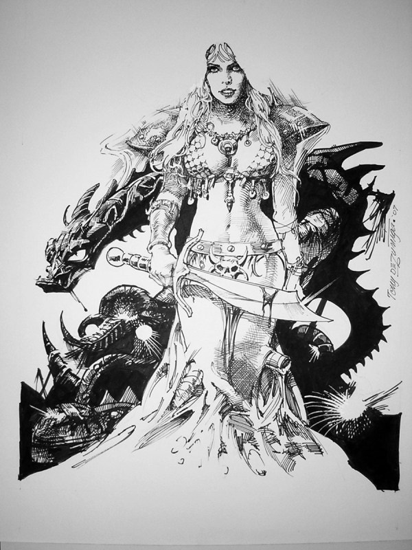 Red Sonja - Tony Dezuniga In Aka Evillabrats'