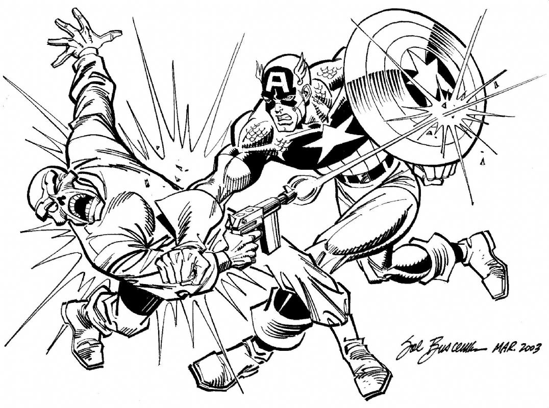 Captain America Vs Red Skull Sal Buscema In Rodney