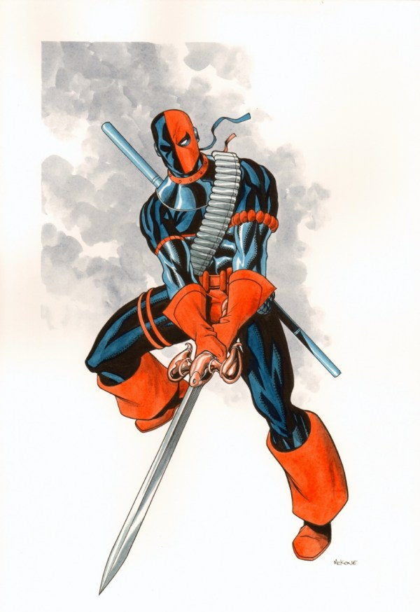 Deathstroke Mike Mckone In Don Bohm' Comic Art Room