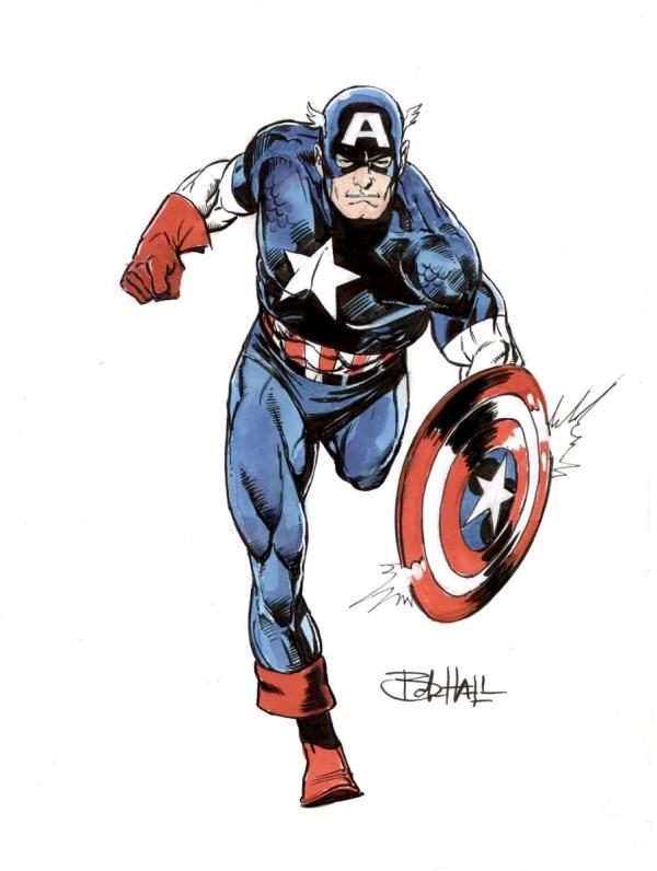 Bob Hall - Captain America In Alberto Gonzalez'