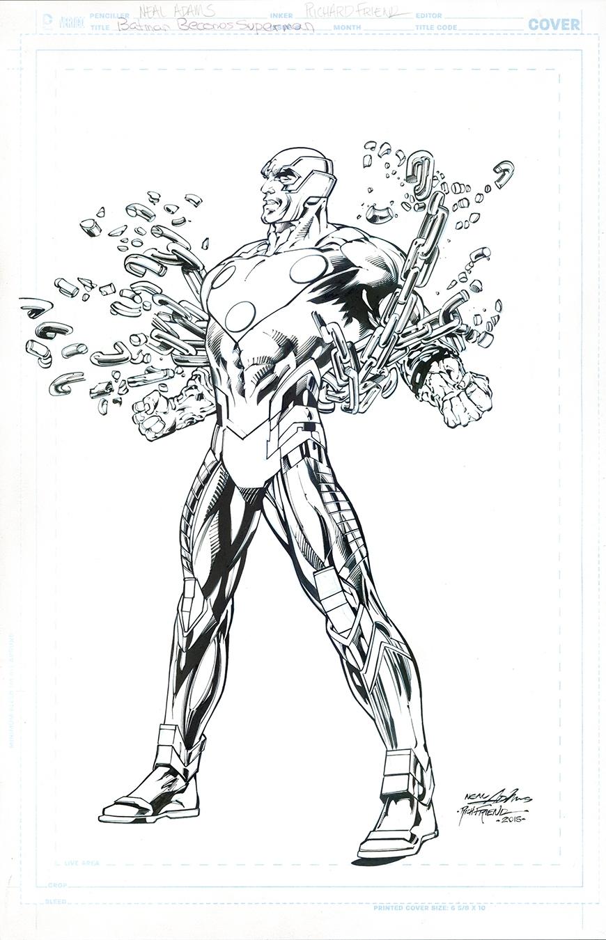 Neal Adams Cover Telos 5 inks Richard Friend Superman 1