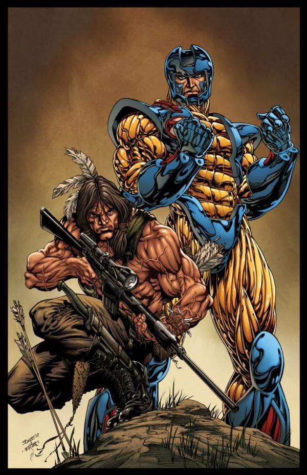 X- Manowar & Turok - Valiant Color Version Bart Sears