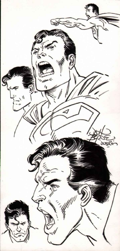 John Byrne Superman head studies, in Alex Bales's art I