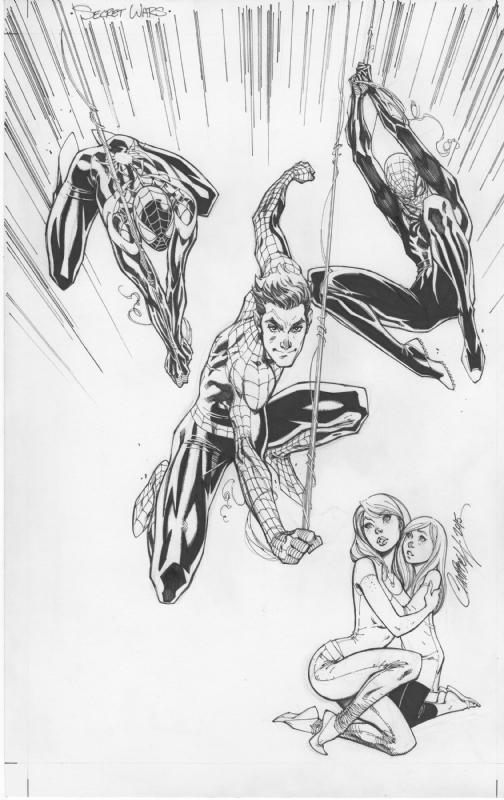 Marvel Secret Wars #1 J Scott Campbell variant cover