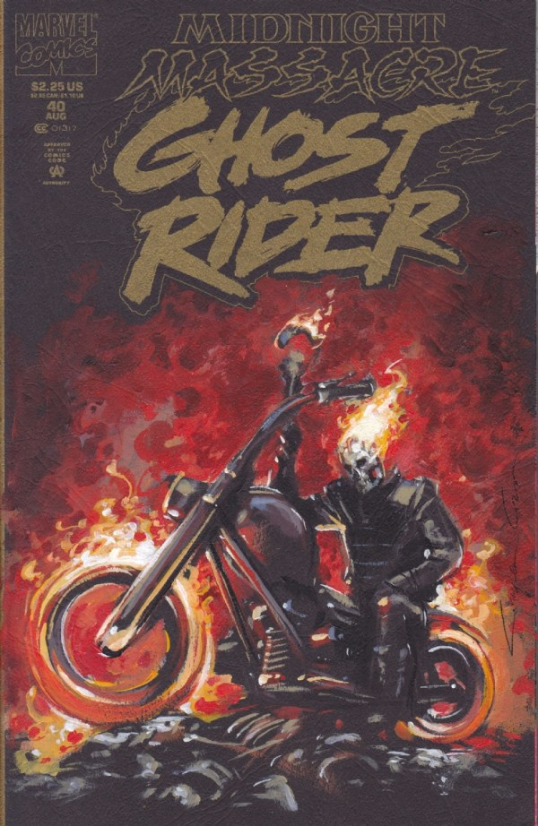 Ghost Rider 40 Cover Painting Clayton Crain In Steve Nelsen' Art Covers Comic Room