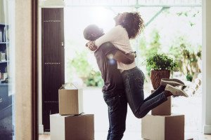 first-time home buyers moving in