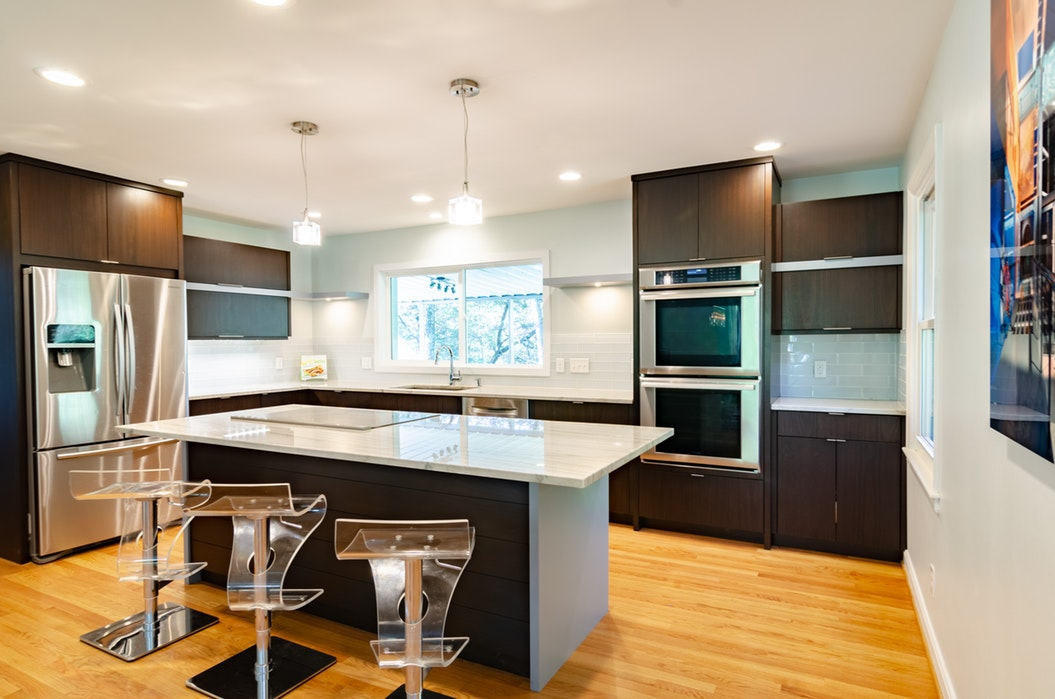A new kitchen with new appliances.