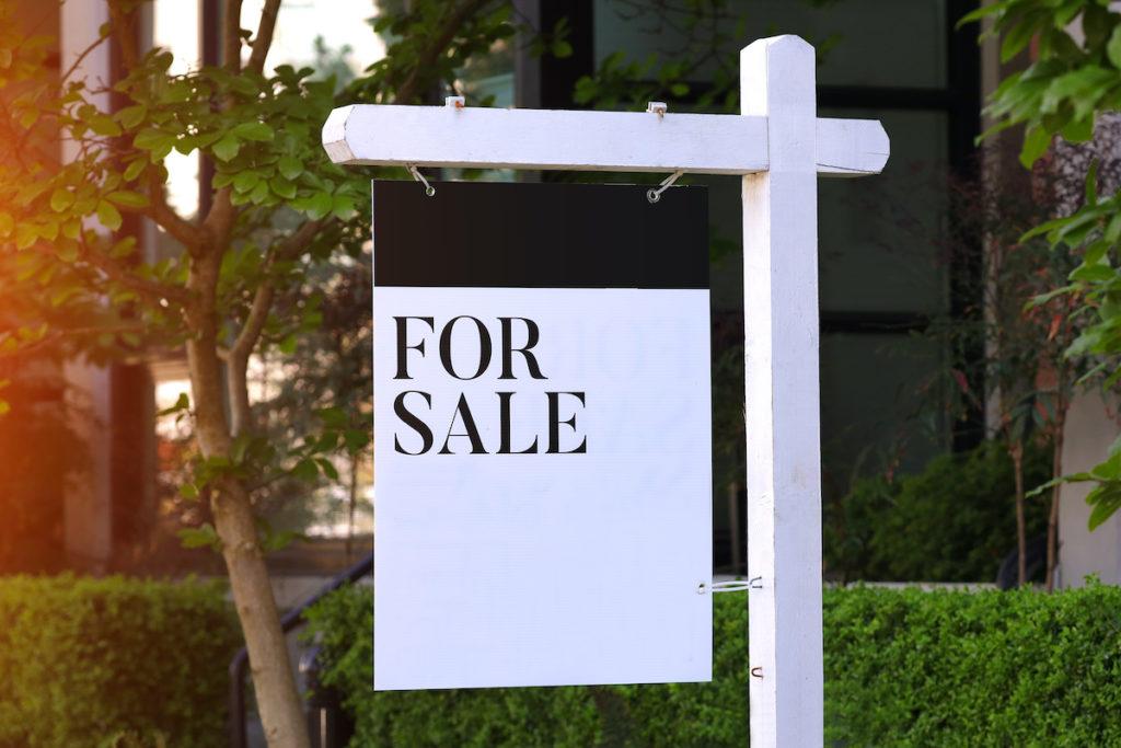 Modern for sale sign