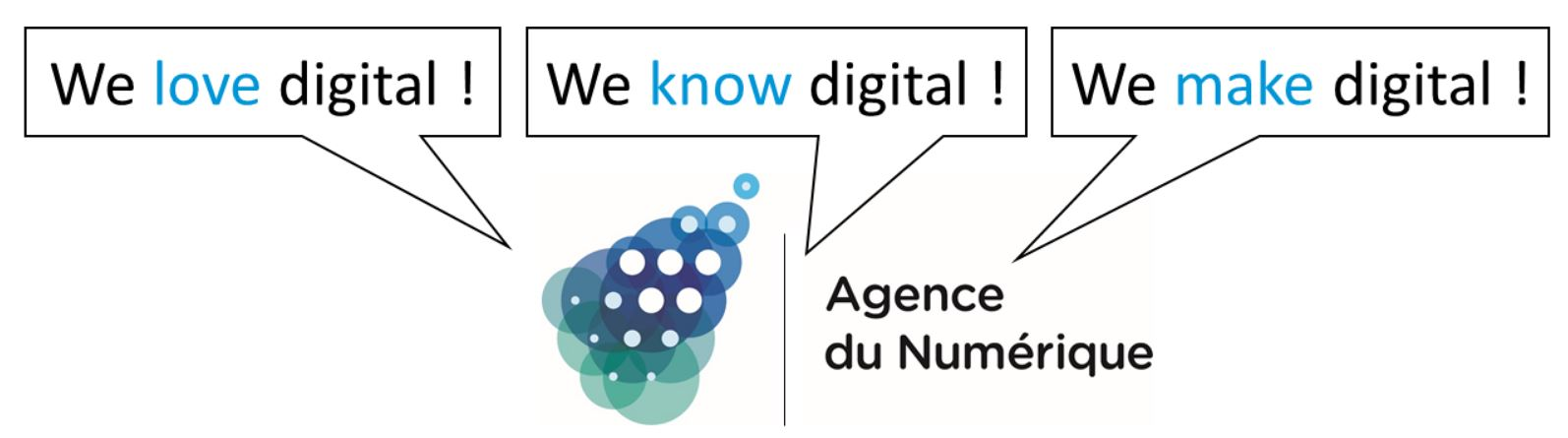 Agence du Numérique (AdN). We love digital. We know digital. We make digital