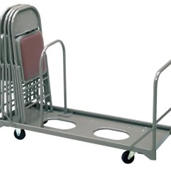 Folding Chair Dolly 50 Capacity Posture Australia Caddy With Adjacent End Post Vertical
